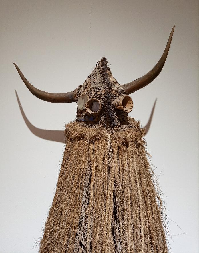 Masque Ejumba, diola, Sénégal, musée Théodore Monod d'art africain, acquis par achat, mission J. Girard en 1966