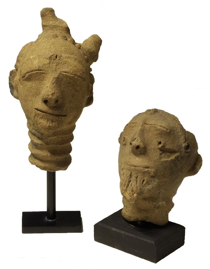 Têtes funéraires mma, Anyi, Côte d'Ivoire, Terre cuite, musée d'Angoulême