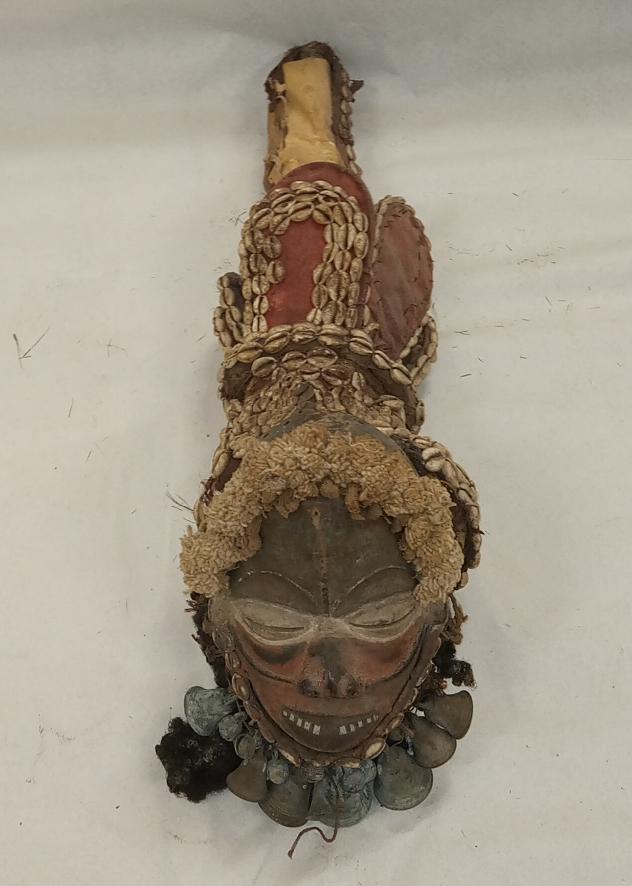Masque-griot Kpepo gla, Wé, Côte d'Ivoire, musée T. Monod, achate collection de Bruno, 1956